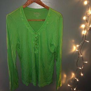 Vintage lily Pulitzer ruffle long sleeve shirt